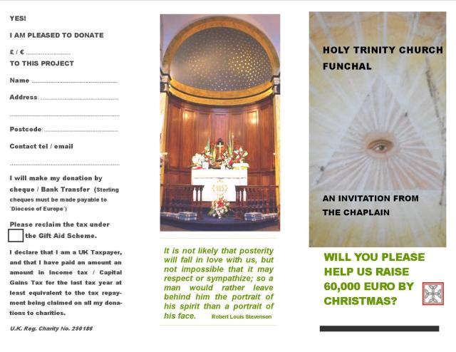 Fundraising leaflet 1