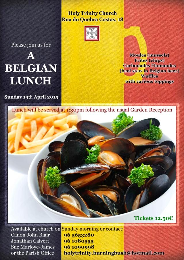 cartaz BELGIAN food