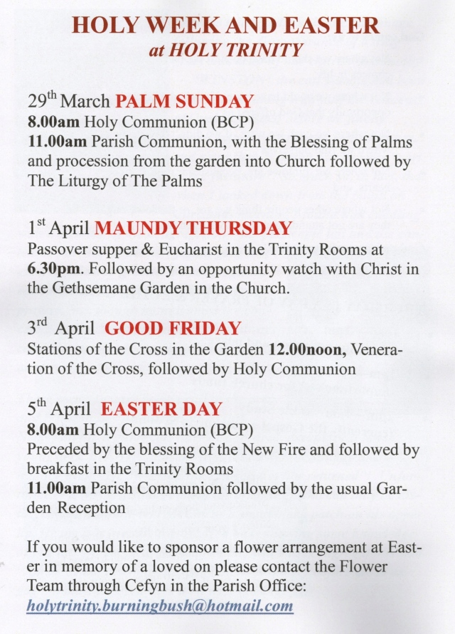 Easter Dates 2015 (2)
