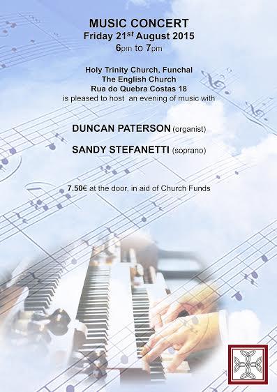 Organ Concert HTC Aug 14