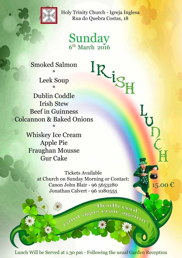 cartaz irlanda almoço 6 março 2016