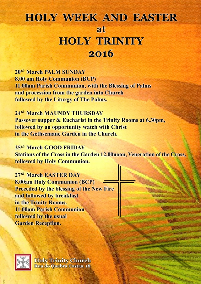 cartaz easter 2016 Holy Trinity